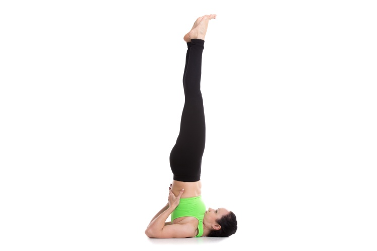 Supported Shoulderstand yoga asana
