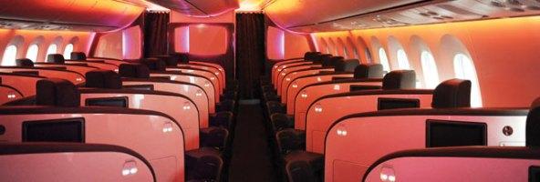 Inside a Virgin Atlantic Airplane